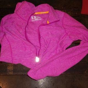 EUC New Balance hot pink heather 1/4 zip